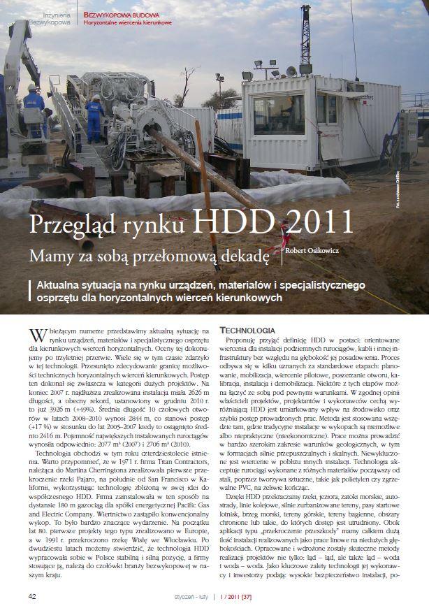 Przegląd rynku HDD. Iżynieria Bezwykopowa luty 2011 - zdjecie tytulowe
