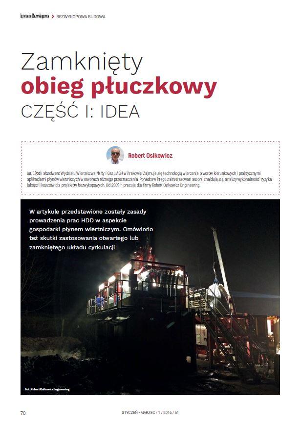 Zamknięty obieg płuczkowy - cz.IIdea. luty 2016 - zdjecie tytulowe