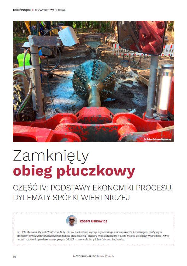 Zamknięty obieg płuczkowy - cz.IV Aspekty ekonomiczne. grudzień 2016 - zdjecie tytulowe